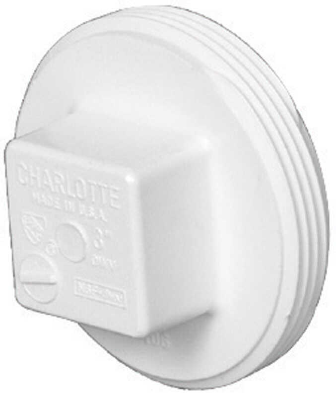 Charlotte Pipe  Schedule 40  6 in. MPT   x 6 in. Dia. MPT  PVC  Clean-Out Plug