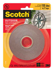 Scotch  1 in. W x 175 in. L x 175 in. L x 1 in. W Mounting Tape  Clear