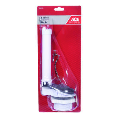 Ace  Flush Valve  White  Plastic