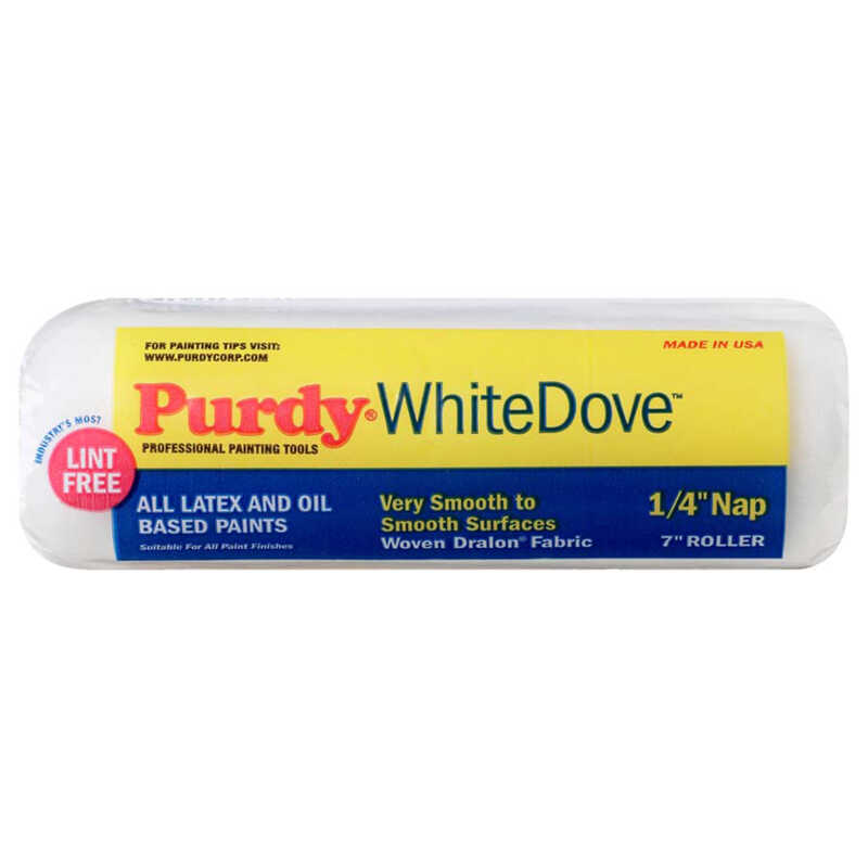 Purdy  White Dove  Dralon  1/4 in.  x 7 in. W For Smooth Surfaces 1 pk Regular  Paint Roller Cover