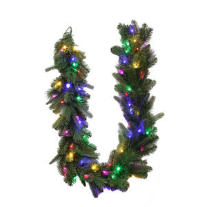 Celebrations  Prelit Green  LED Garland  6 ft. L Multi-Colored