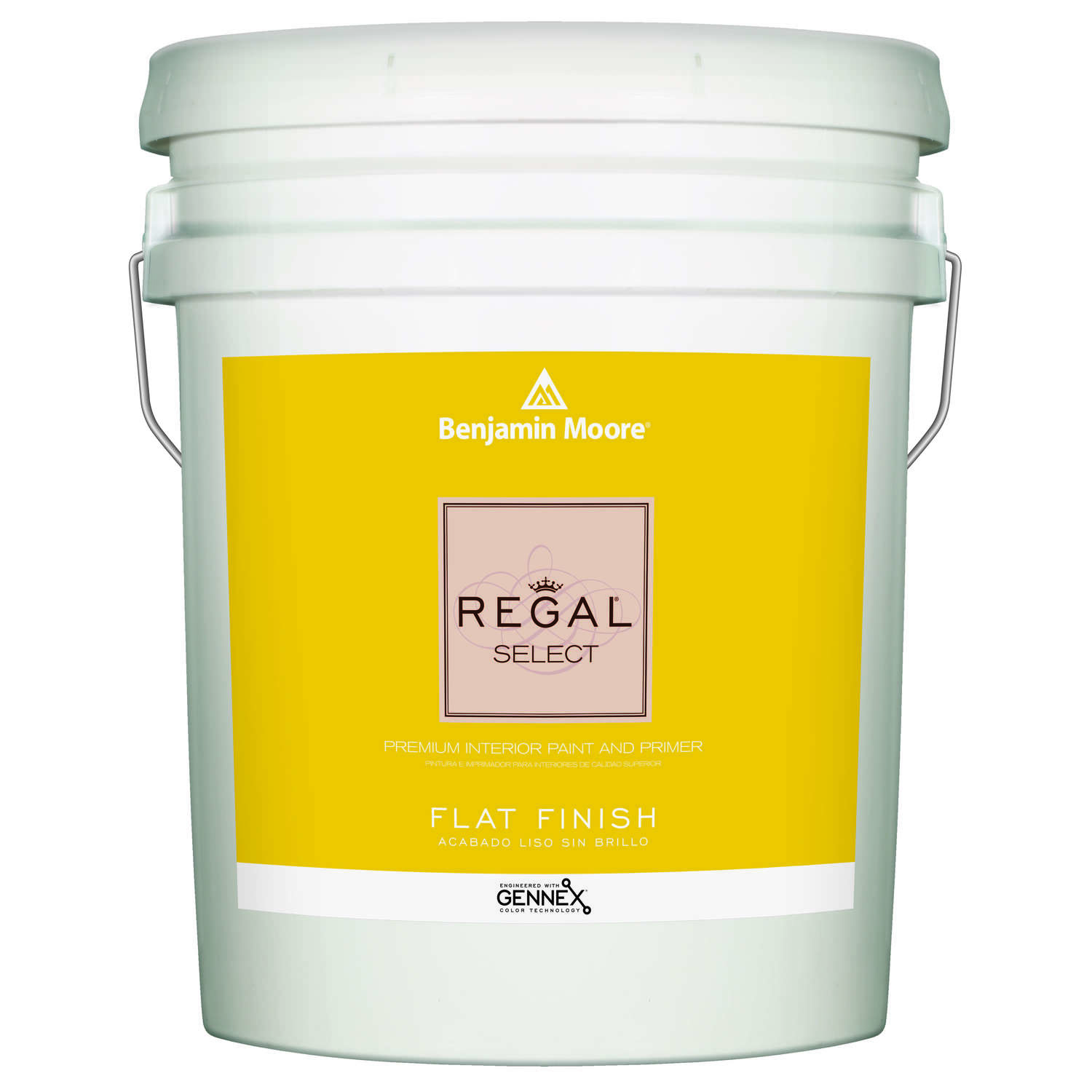 Benjamin Moore  Regal Select  Flat  Base 4  Paint and Primer  Interior  5 gal.