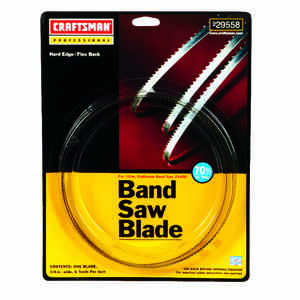 Craftsman  70.5 in. L x 0.3 in. W x 0.03 in.  Carbon Steel  Band Saw Blade  6 TPI Skip teeth 1 pk