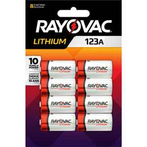 Rayovac  Lithium Ion  3 volt Camera Battery  123A  8 pk 123A