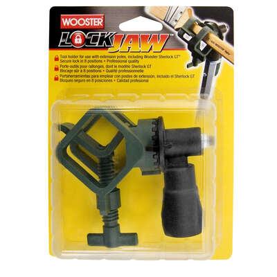 Wooster  Lock Jaw  1-3/8 in. Dia. Plastic  Tool Holder  Green