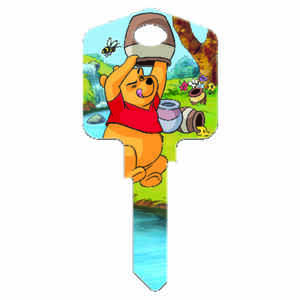 Howard Keys  Disney  Winnie The Pooh  House  Key Blank  Single sided For Kwikset and Titan Locks