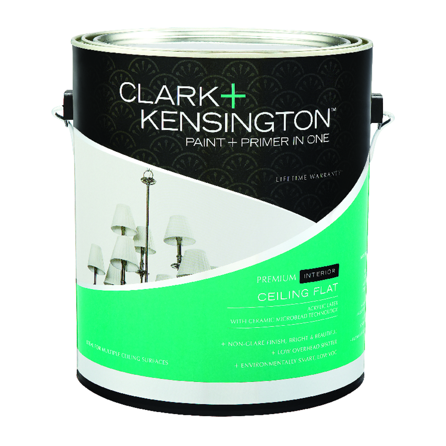 Clark Kensington  Ace  White  Acrylic Latex  Ceiling Paint and Primer in One  1 gal. Flat