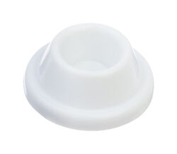 Ace  1 in. H x 1-7/8 in. W Plastic  White  Wall Door Stop  Mounts to door and wall