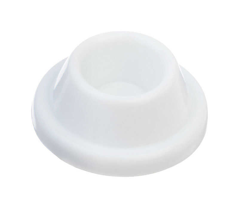 Ace  1 in. H x 1-7/8 in. W White  Plastic  Wall Door Stop  Mounts to door and wall