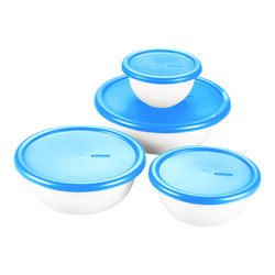 Sterilite  Bowl Set  4 pk White