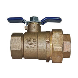 Watts  1 in. Brass  Threaded  Union Ball Valve  Full Port