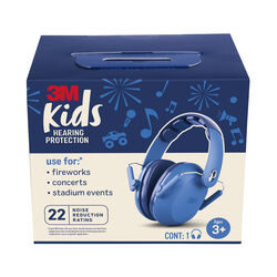 3M 22 dB Kids Ear Muffs Blue 1 pk