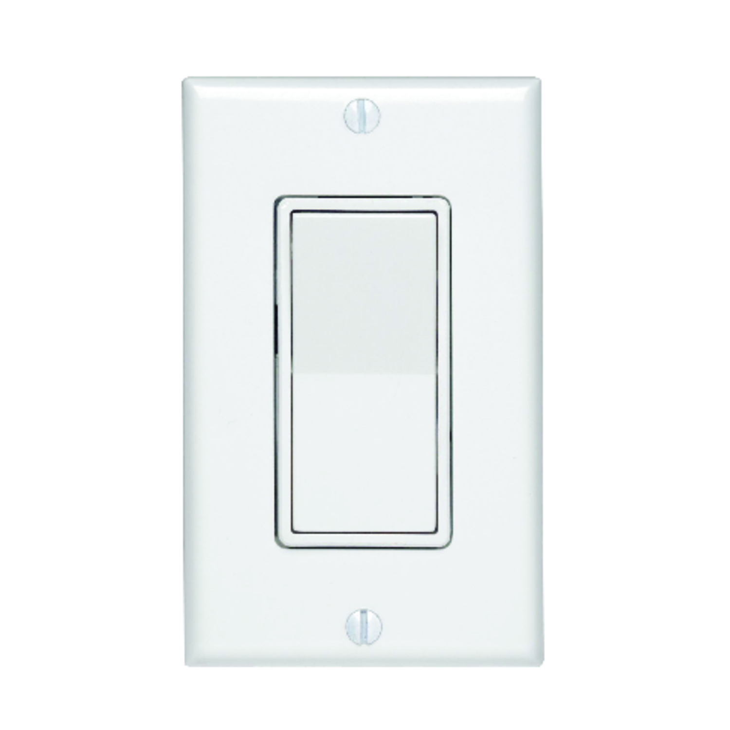 Leviton  15 amps Decora  Switch  Rocker  White  1 pk