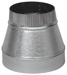 Imperial  8 in. Dia. x 7 in. Dia. Galvanized Steel  Furnace Pipe Reducer