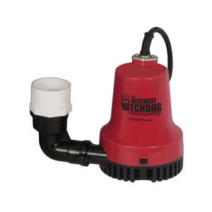 Basement Watchdog  1/4 hp 2000 gph Plastic  Submersible Sump Pump Back-Up