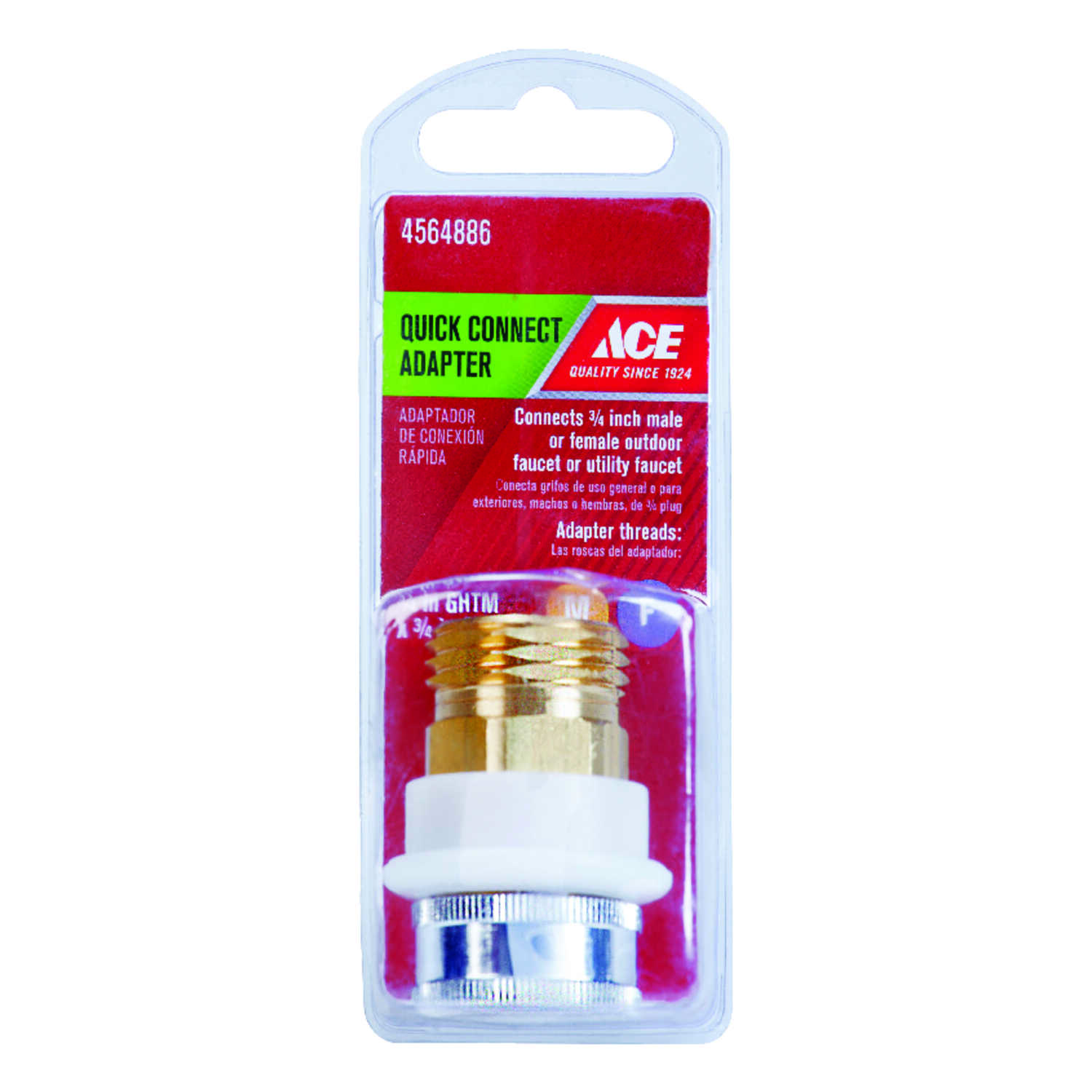 Ace  Quick Connect Adapter  3/4 in.  x 3/4 in.  Chrome