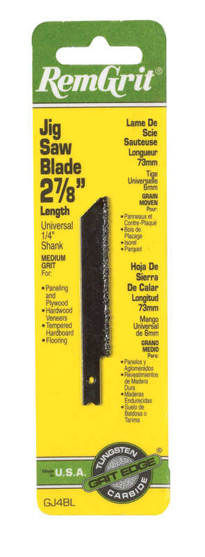 RemGrit  2-7/8 in. Carbide Grit  Universal  Jig Saw Blade  Assorted TPI 1 pk