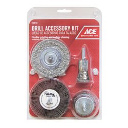 Ace  Assorted in. Wire Wheel Brush Set  Steel  4500 rpm 4 pc.