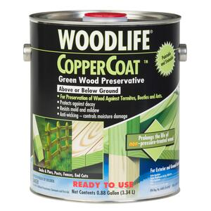 Woodlife  CopperCoat  Green  Water-Based  Wood Preservative  1 gal.