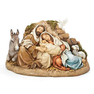 Roman  Holy Family Figurine  Christmas Decoration  Multicolored  Polyresin  1 pk