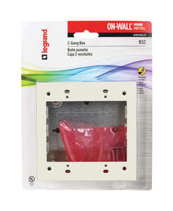 Wiremold  4-3/4 in. Square  Outlet Box  Ivory  2 Gang  Metal