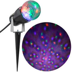 Gemmy  Confetti  Orange/Purple/Green  LED Projector  8.27 in. H x 12.6 in. W x 3.94 in. L 1 pk