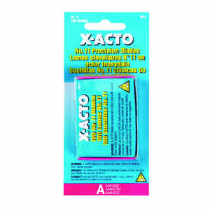 X-Acto  #11  Carbon Steel  Replacement Blade  100 pk