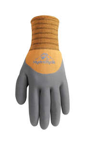 Wells Lamont  Universal  Latex  Coated  Gloves  M  Black/Tan