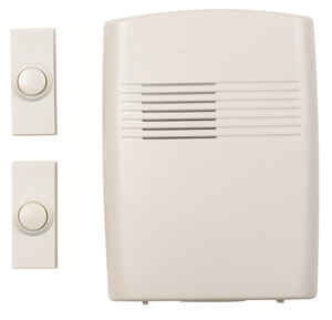 Heath Zenith  Off-White  Plastic  Wireless  Door Chime Kit