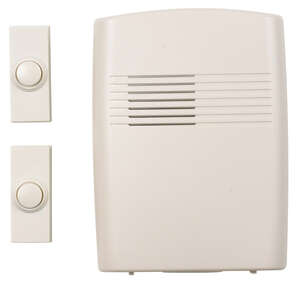 Heath Zenith  Off-White  Plastic  Door Chime Kit  Wireless