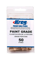 Kreg  Wood  Paint Grade Wood Plugs  1-1/2 in. Brown  50 pk