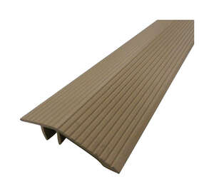 M-D Building Products  Cinch  36 in. L Prefinished  Reducer Transition Strip  Aluminum  Beige