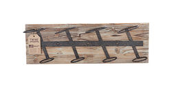 Twine  Rustic Farmhouse  8 in. H x 24 in. W x 5 in. L Natural  Wood  Wine Rack