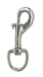 Campbell 3/4 in. Dia. x 3-3/32 in. L Polished Stainless Steel Round Swivel Eye Bolt Snap 180 lb.