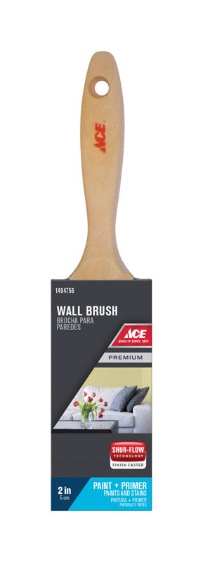 Ace  Premium  2 in. W Medium Stiff  Polyester  Flat  Paint Brush