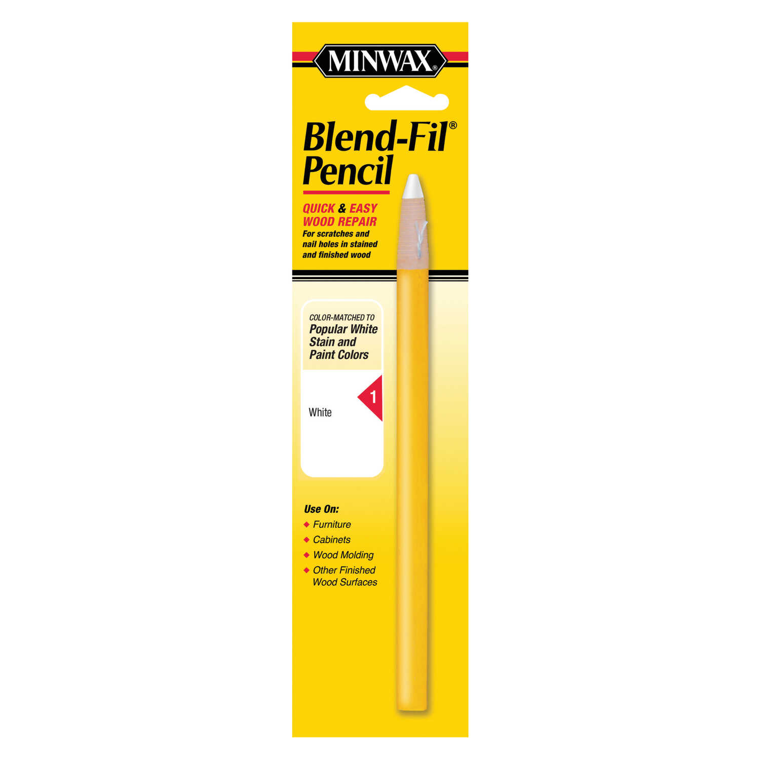 Minwax  Blend-Fil No. 1  White  Wood Pencil  1 pk