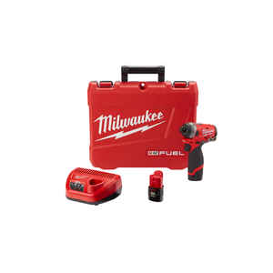 Milwaukee  M12 FUEL  12 volt 1/4 in. Hex  Cordless  Brushless Impact Driver  Kit 1300 in-lb