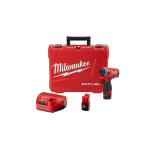 Milwaukee  M12 FUEL  1/4 in. Hex  Cordless  Impact Driver  Kit 3300 rpm 12 volt 1300 pound-force per