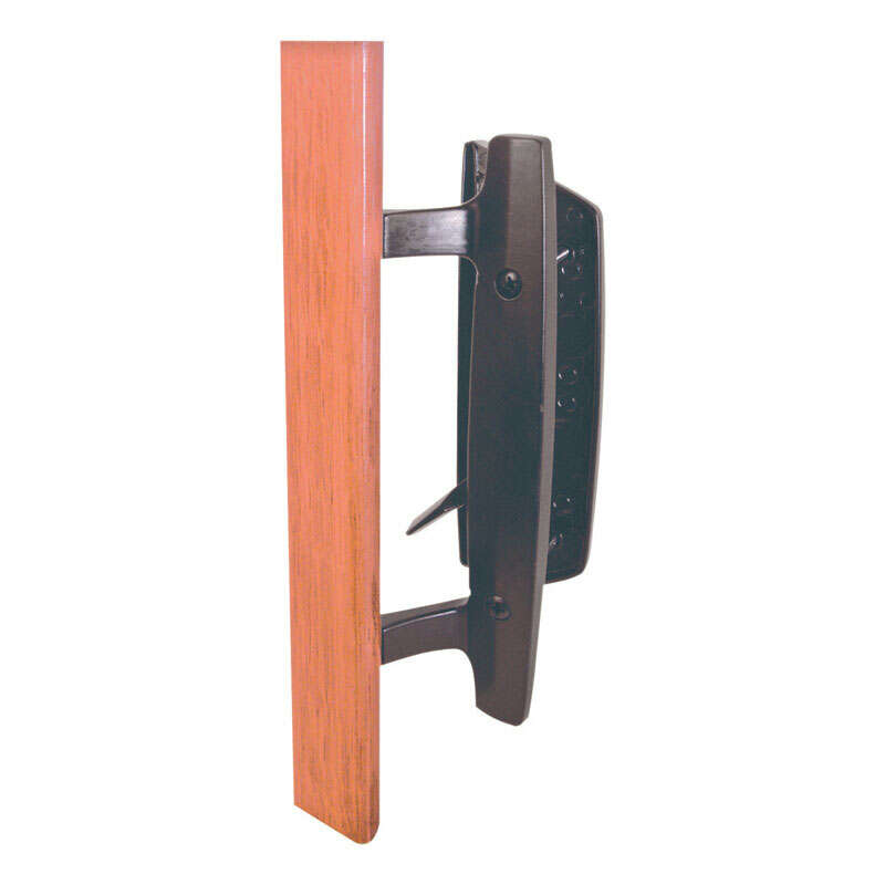 Prime-Line  Wood/Brown  Metal  Outdoor  Patio Door Handle Set