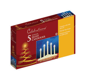 Celebrations  Incandescent  Candle  Clear  5 lights