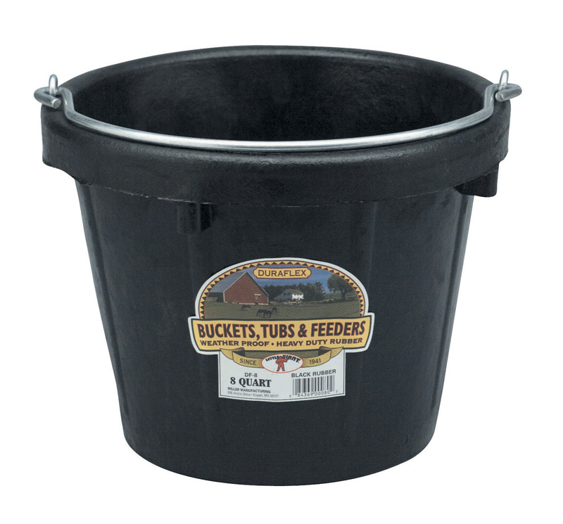 Miller  8 qt. Bucket  Black