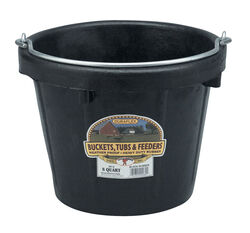 Little Giant  8 qt. Bucket  Black