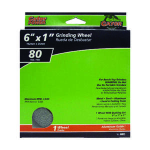 Gator  6 in. Dia. x 1 in. thick  x 1 in.   Aluminum Oxide  Grinding Wheel  3820 rpm 1 pc.