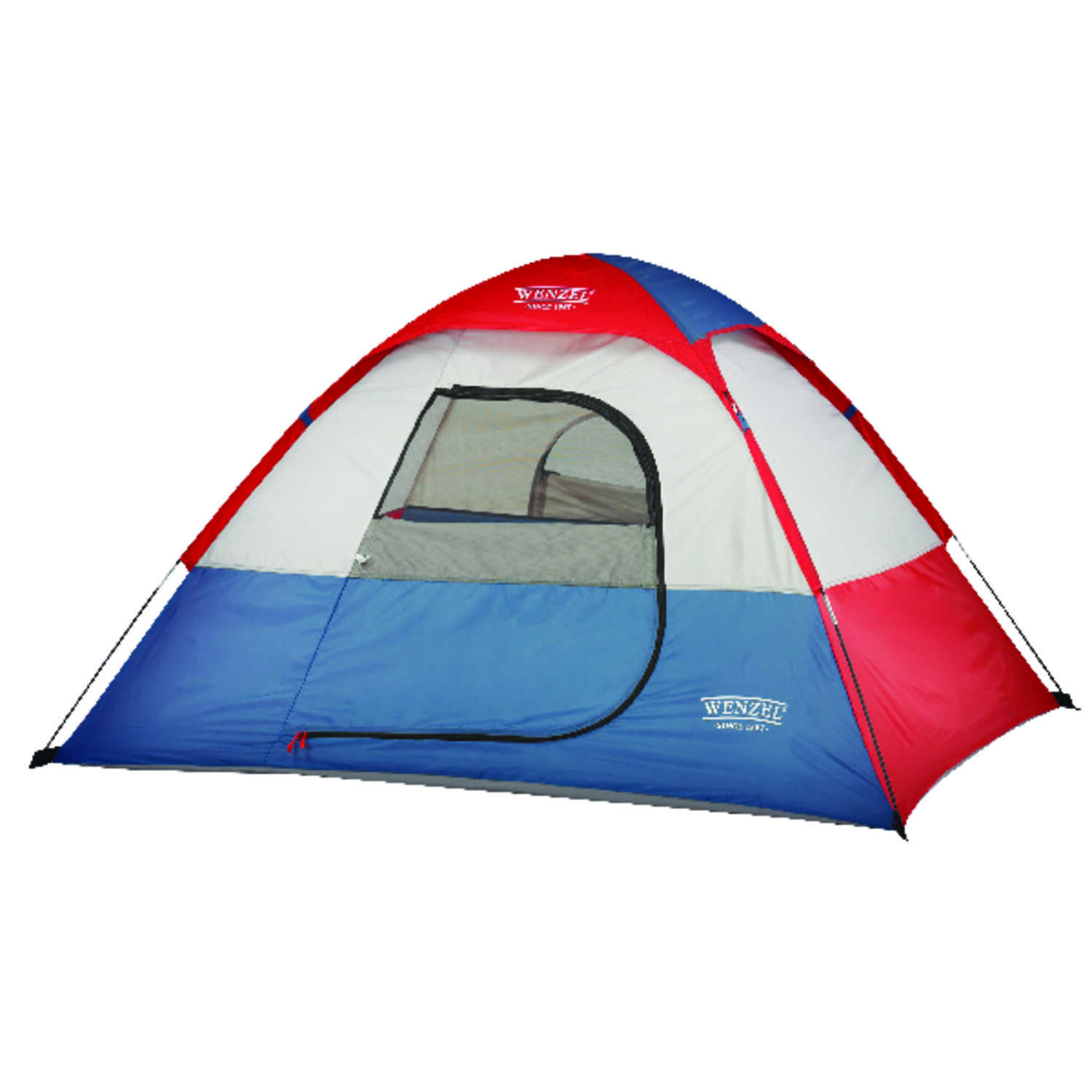 Wenzel Blue/Gray/Red Tent 38 in  H x 72 in  W x 60 in  L 8