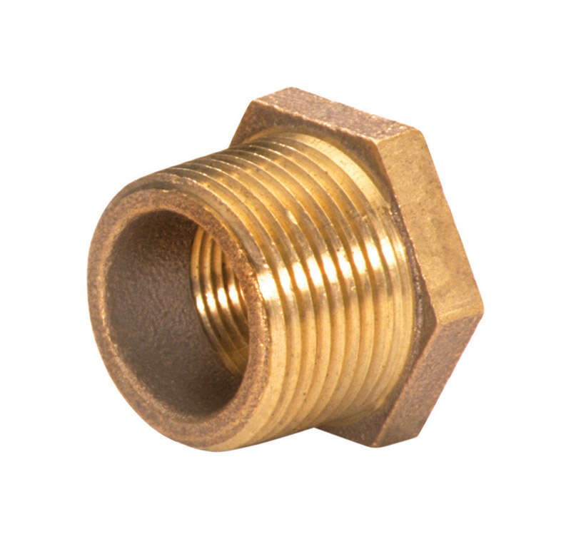 JMF  1-1/2 in. Male   x 1-1/4 in. Dia. Female  Brass  Bushing