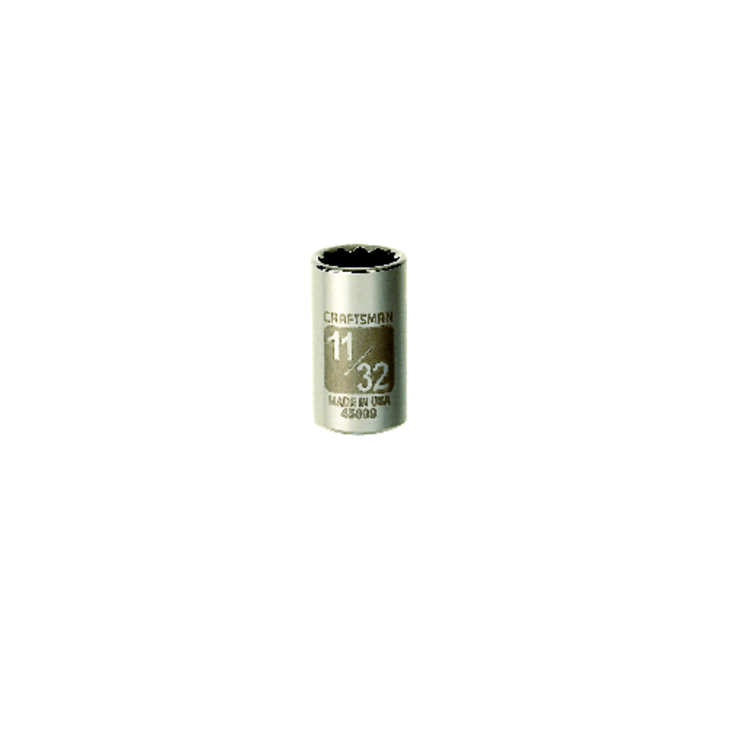 Craftsman  11/32 in.  x 1/4 in. drive  SAE  12 Point Standard  Socket  1 pc.