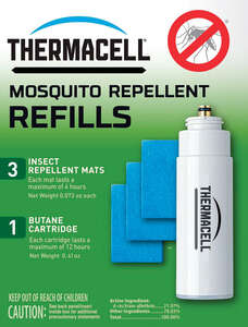 Thermacell  Insect Repellent Refill Cartridge  Cartridge  For Mosquitoes/Other Flying Insects 0.2 oz
