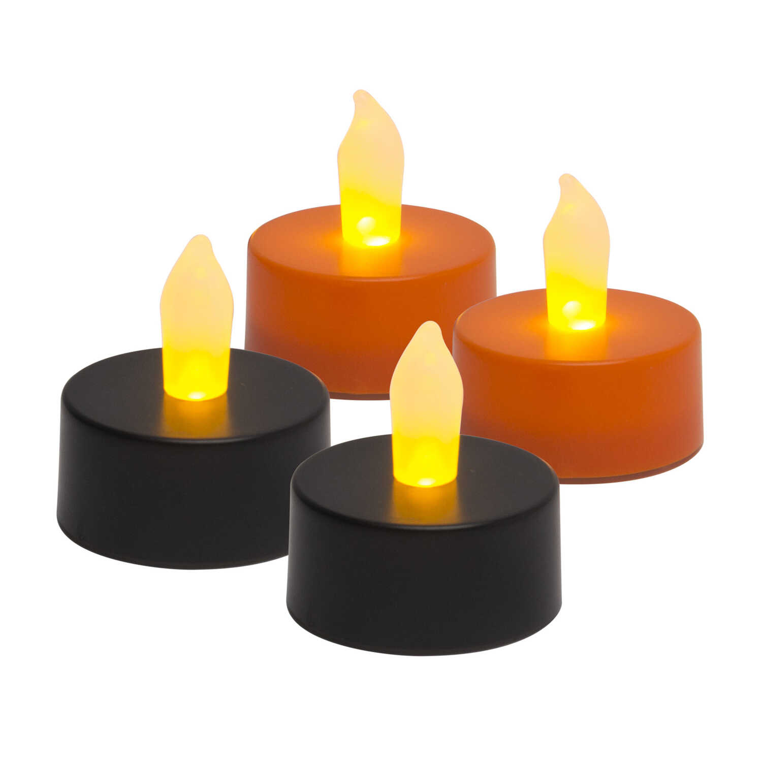 Inglow  Flameless Tea light Candle  Lighted 1 in. H x 1 in. W x 1 in. L Halloween Decoration  4 pk