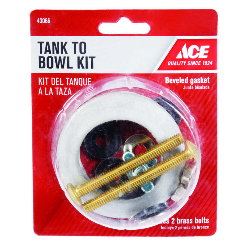 Ace  Tank to Bowl Kit  Brass/Rubber