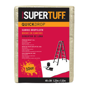 Trimaco  SuperTuff  4 ft. W x 5 ft. L Canvas  Drop Cloth  1 pk
